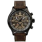 Timex Expedition Rugged - Reloj análogico de cuarzo con correa de cuero para...