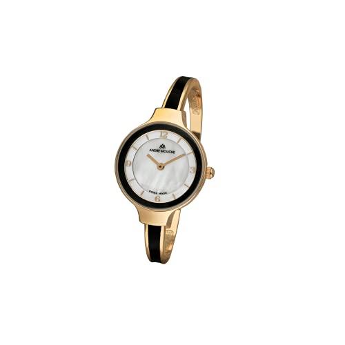 Andre Mouche Tara - Reloj de pulsera para mujer, color dorado y negro
