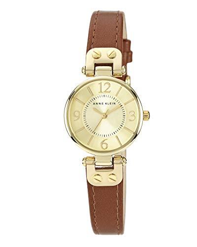 Anne Klein Reloj de pulsera analógico de cuarzo para mujer con correa de piel 10/9442CHHY