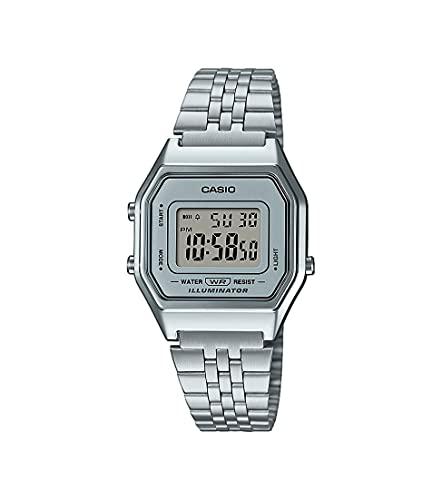 Casio Collection LA680WEA-7EF Reloj de pulsera para Mujer, Gris, 33,5 x 28,6 x 8,6 mm