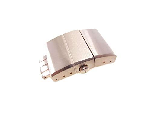 20mm sólido Acero inoxidable Reloj Rose Gold Strap Deployment Ulysse Nardin estilo repuesto cepillado