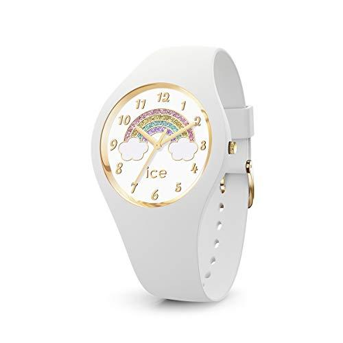 ICE-WATCH ICE Fantasia Rainbow White - Reloj Blanco para Mujer con Correa de Silicona, 017889 (Small)