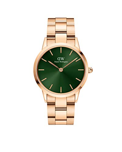 Reloj Daniel Wellington Iconic Link Emerald Rose Gold 36mm DW00100419