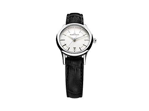 Reloj de cuarzo Maurice Lacroix Les Classiques Date, Plata, 28mm, Piel