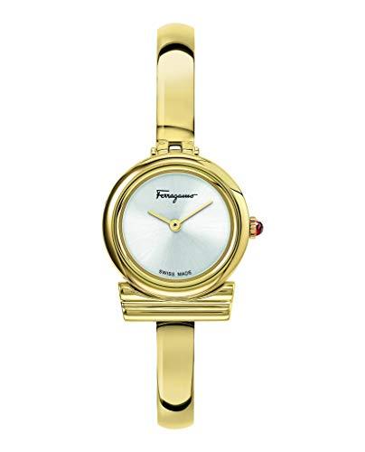 Salvatore Ferragamo Gancini Bangle SFIK01120 - Reloj de cuarzo para mujer con pulsera de acero inoxidable