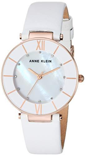 Anne Klein AK/3272 - Reloj de Pulsera para Mujer (Correa de Piel con Cristales Swarovski)