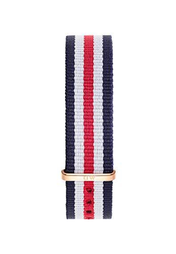 Daniel Wellington Classic Canterbury, Correa Azul-Blanco-Rojo/Oro Rosado, 18mm, NATO, para Mujer y Hombre