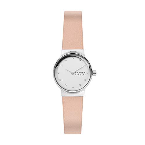 Skagen Reloj Analógico para Mujer de Cuarzo con Correa en Cuero SKW2770