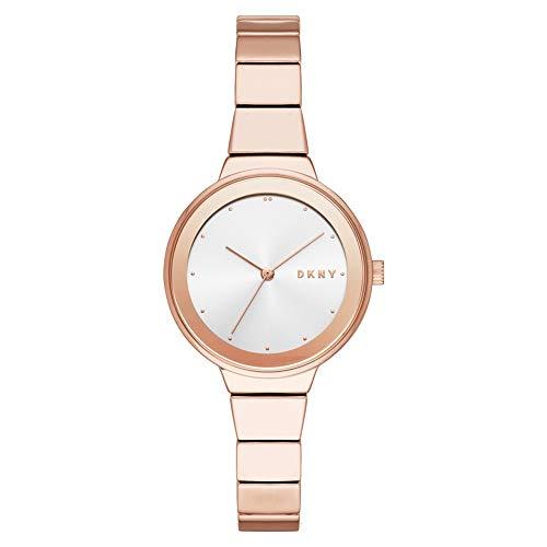 DKNY Reloj Analógico para Mujer de Cuarzo con Correa en Acero Inoxidable NY2695