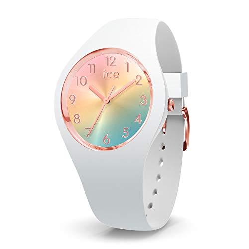ICE-WATCH ICE Sunset Rainbow - Reloj Blanco para Mujer con Correa de Silicona, 015743 (Small)