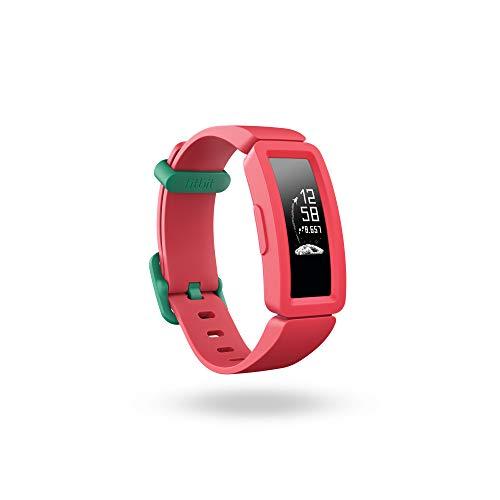Fitbit Ace 2-Monitores, Pulsera de Actividad para niños con Divertidos incentivos, 4 días de batería y Sumergible hasta 50 Metros, Juventud Unisex, Sandía + Teal, Talla única