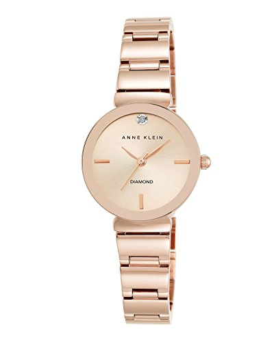 Anne Klein Reloj de Cuarzo para Mujer con Esfera de Oro Rosa, Pantalla Analógica y Pulsera de aleación AK/N2434RGRG