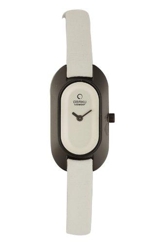 Obaku Harmony V136L BIRW - Reloj de Mujer de Cuarzo, Correa de Piel Color Blanco
