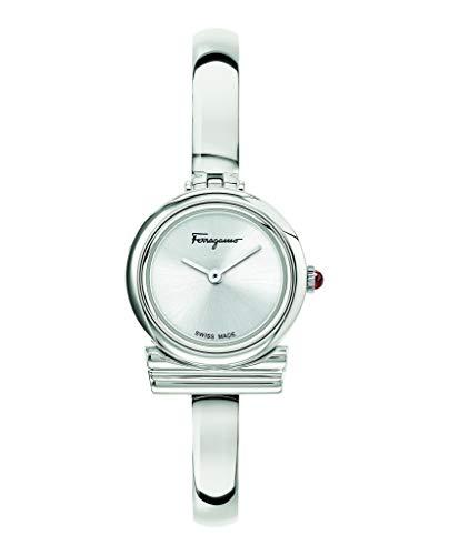 Salvatore Ferragamo Gancini Bangle SFIK01020 - Reloj de cuarzo para mujer con pulsera de acero inoxidable