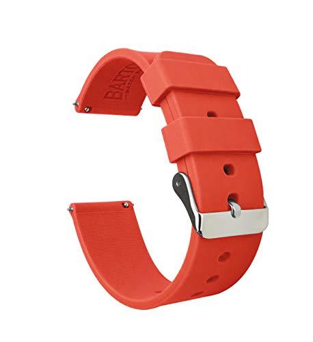 Barton Silicone Quick Release - Las Correas de Reloj de Goma Ligera de 22mm Naranja