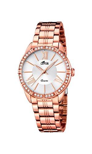 Lotus 18132/1 - Reloj para Mujer (Cuarzo, analógico, Correa de Acero Inoxidable, Chapado en Oro Rosado y Dorado