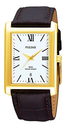 Pulsar Reloj Análogo clásico para Hombre de Cuarzo con Correa en Cuero PXDB70X1