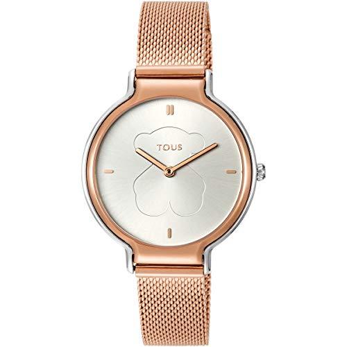 Reloj tous Real Bear bicolor de acero/IP rosado Ref:800350895