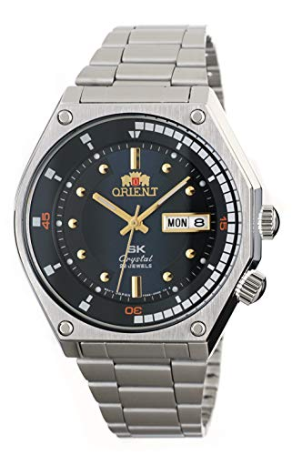 ORIENT Sports SK Retro 70's reloj automático de acero con esfera azul RA-AA0B03L