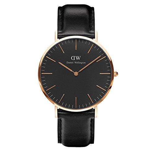 Daniel Wellington Reloj Analógico para Unisex de Cuarzo con Correa en Cuero DW00100127