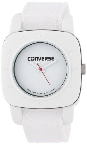 Converse VR021-100 - Reloj analógico de Cuarzo para Mujer con Correa de Tela, Color Blanco