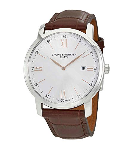 Baume et Mercier Classima MOA10380 - Reloj para hombre con esfera plateada