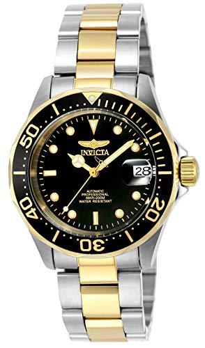 Invicta INVICTA-8927 Reloj Automatico Unisex 'correa de acero inoxidable' Negro/Plateado/Dorado
