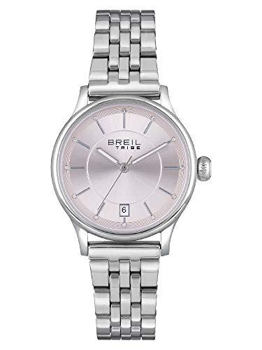 BREIL - Reloj para Mujer Redondo con Esfera Monocolor y Caja de Acero Colección Classy