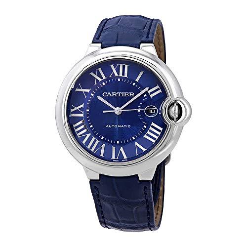Cartier Ballon Bleu WSBB0025 - Reloj de Piel para Hombre, Esfera Azul