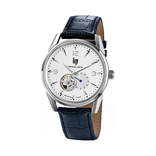 Lip Himalaya 1954 671255 - Reloj de hombre automático, cuero azul