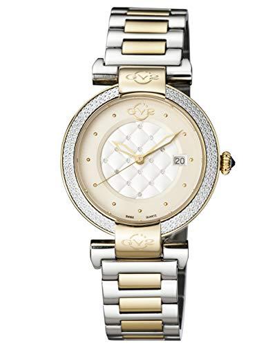 GV2 1508 - Reloj de Pulsera de Acero Inoxidable de Dos Tonos para Mujer