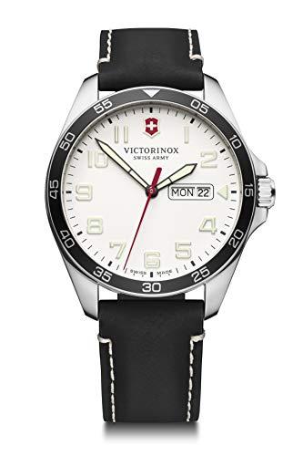 Victorinox Hombre Field Force - Reloj de Acero Inoxidable de Cuarzo analógico de fabricación Suiza con día/Fecha 241847
