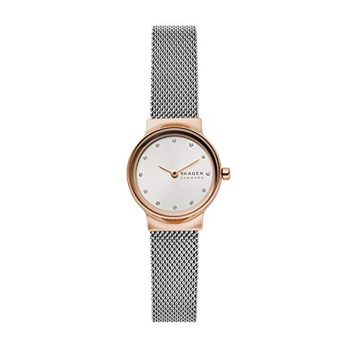 Skagen Reloj Analogico para Mujer de Cuarzo con Correa en Malla de Acero Inoxidable SKW2716