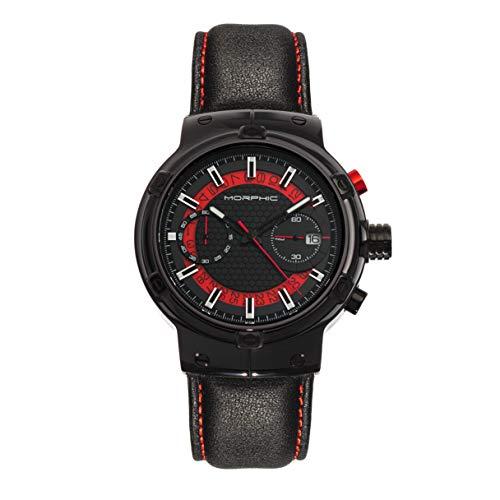 Morphic M91 Series Reloj cronógrafo con correa de cuero con fecha