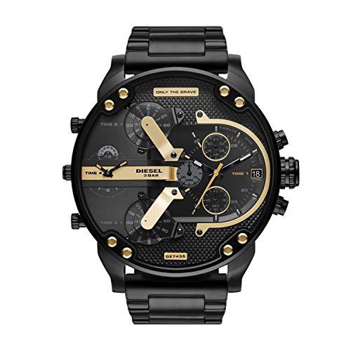 Diesel Reloj Analógico para de los Hombres de Cuarzo con Correa en Acero Inoxidable DZ7435