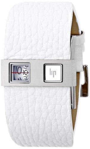 Lip 1871328A+150072+143357 - Reloj digital de caballero de cuarzo con correa de piel negra - sumergible a 50 metros