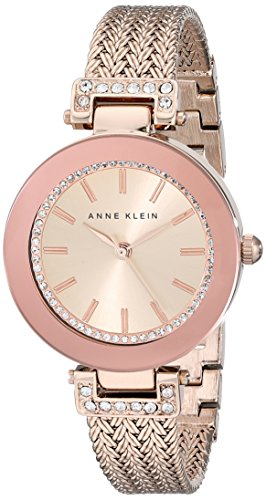 Anne Klein AK/1906RGRG - Reloj de Pulsera Mujer, Acero Inoxidable, Color Oro Rosa