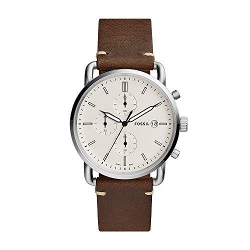 Fossil Reloj Cronógrafo para Hombre de Cuarzo con Correa en Piel FS5402