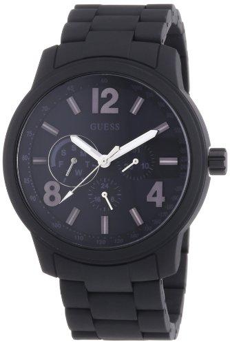 Guess W0185G1 - Reloj analógico de cuarzo para hombre, color negro