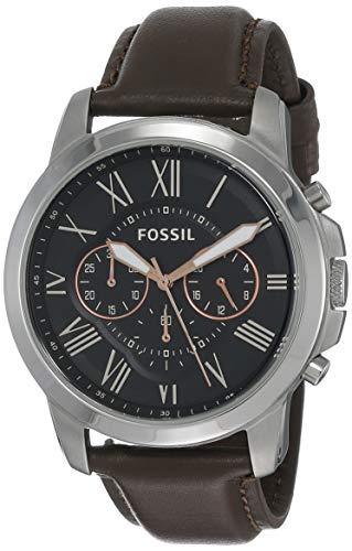 Fossil Reloj Cronógrafo para Hombre de Cuarzo con Correa en Cuero FS4813