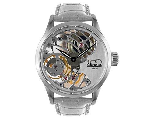 Reloj altanus Manual de Bobina de Acero CINT Cuero del Centenario de la Escultura 7950