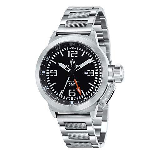 Ballast Reloj Trafalgar de plata y negro fabricado en Suiza GMT BL-3102-11