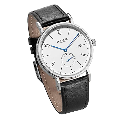 Reloj Automático Mecánico para Hombres FEICE Reloj Bauhaus Minimalista Analógico Relojes de Pulsera Unisex Reloj Zafiro Sintético FM201