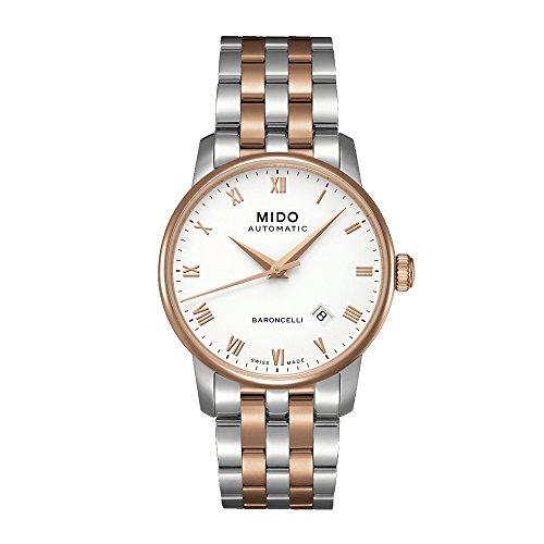 Mido Baroncelli M86009N61 - Reloj para Hombres, Correa de Acero Inoxidable Color Plateado