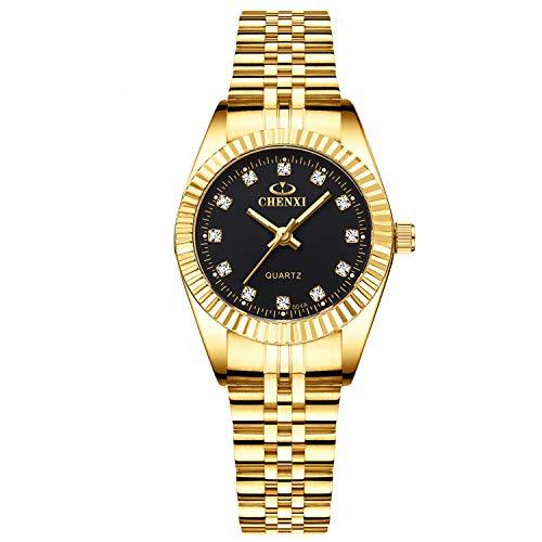 RORIOS Mujer Relojes de Pulsera Acero Inoxidable Correa de Reloj Simulado Diamante Luminosa Dial Relojes de Mujer Reloj de Dama
