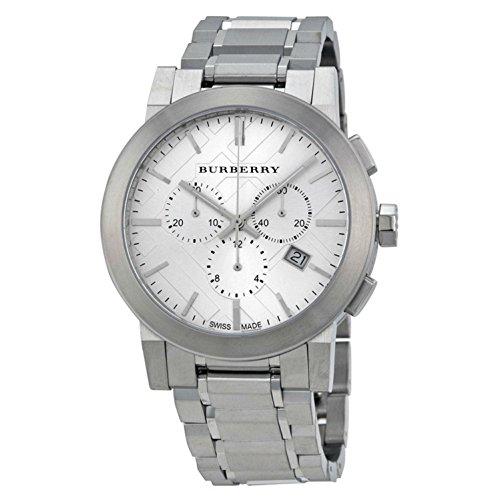 BURBERRY BU9350 - Reloj, Correa de Acero Inoxidable Color Plateado