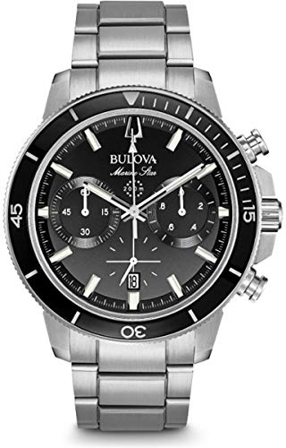 Bulova Reloj Cronógrafo para Hombre de Cuarzo con Correa en Acero Inoxidable 96B272