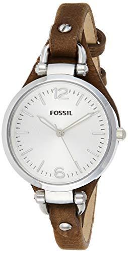 Fossil Reloj Analógico para Mujer de Cuarzo con Correa en Cuero ES3060