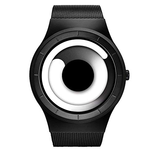 SINOBI para Hombre Reloj de Pulsera Deportivo Cuarzo electrónico Digital Reloj con Alarma Cronómetro Doble Movimiento Hombres de la muñeca Relojes (S9659G05-Black/White)