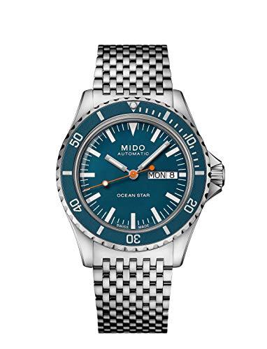 Mido Captain M0268301104100 Reloj Automático para Hombres con Pulsera Adicional